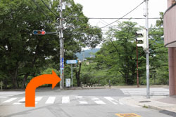 4さくら夙川道に出たら右折して下さい